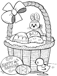 beautiful easter eggs and easter bunny coloring pages for children