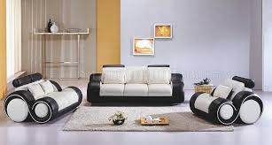 modern livingroom sets two tone leather 3pc modern living room set