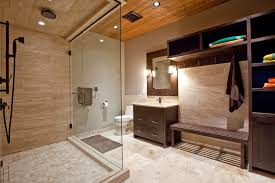 Calgary Bathroom Vanity by Calgary Vein Cut Travertine Bathroom Contemporary With Tile Shower