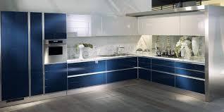 meuble cuisine bleu charmant meuble cuisine blanc laque 12 la cuisine bleue