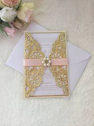 pink and gold wedding invitations metallic doily wedding invitation pink and gold doily wedding