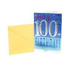 100th Birthday Card Amazon Com Hallmark 100th Birthday Greeting Card 100th With
