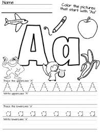 kindergarten beginning sound u0026 letter handwriting worksheets tpt