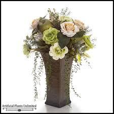 Vases For Floral Arrangements Elegant Mixed Flower Rose Trailing Arrangement In Tall Ceramic Vase
