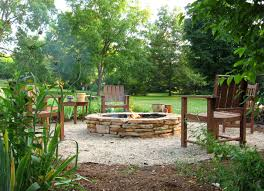 exterior design charming outdoor fire pit with grass and gravel