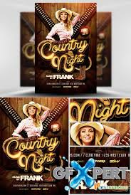 template flyer country free free flyer template psd country night western download