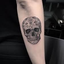 collection of 25 glowing sugar skull on arm