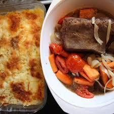 plat facile a cuisiner boeuf braisé et gratin dauphinois à préparer la veille