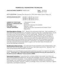Cover Letter For Electrical Engineer Resume Biomedical Engineering Resume For Your Job Application