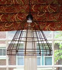 diy wire basket light fixture house home