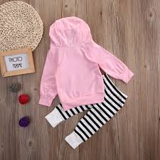 newborn infant baby clothes piglets pink hoodie tops