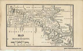 Map Of Massachusetts by Map Of Massachusetts Antique Maps And Charts U2013 Original Vintage