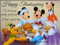 happy thanksgiving to all my friends and family a great day