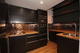 copper backsplash for kitchen black and copper kitchen ideas modern extravagant and bold designs
