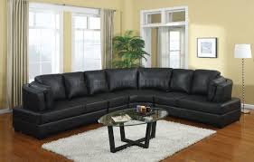 elegant living room with leather couch s3net sectional