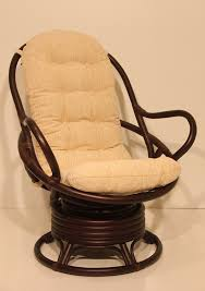 Rocking Chairs Cushions Amazon Com Java Swivel Rocking Chair Dark Brown With Cushion