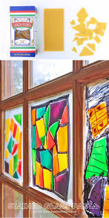 pasta crafts stained glass pasta pasta crafts faux stained