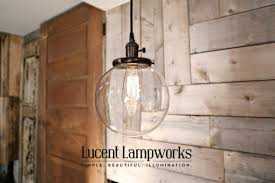 Globe Ceiling Light Fixtures by Clear Glass Globe Pendant Fixture 8 Inch