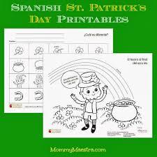 mommy maestra free spanish st patrick u0027s day printables