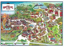 Aquatica Orlando Map by 1980s Map Of The Great Escape In Lake George Ny Themepark