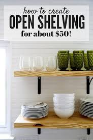 open shelving diy open shelving a quick tutorial love renovations