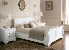 white wood sleigh beds louie wooden sleigh bed white king