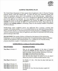 7 company plan templates examples in word pdf9 training plan