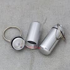 box keychain 1 2 5 waterproof keychain capsule clip aluminum stash keyring