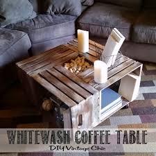 Whitewash Coffee Table Diy Vintage Chic Vintage Wine Crate Coffee Table