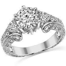 moissanite vintage engagement rings trillion antique moissanite engagement ring moissaniteco