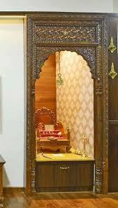 home temple interior design mandir door wood design door at lakshmi vinayak mandir