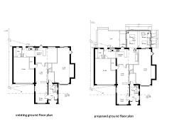 proposed rear extension dore u2013 floor plans millhouses design