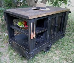 distressed black kitchen island distressed black rustic kitchen island cart with open shelf