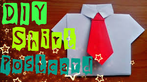 diy how to make paper shirt easy origami craft postcard for