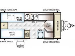 Coleman Popup Campers Floor Plans by 2018 Forest River Flagstaff T21tbhw Phoenix Az Rvtrader Com