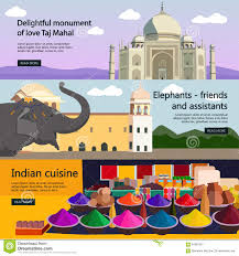 travel to india banner vector set indian culture stock vector