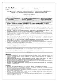 Architecture Resume Sample by Sample Resume For Solution Architect Resume For Your Job Application