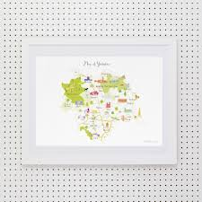 Norfolk County Wall Map Framed Map Of Norfolk Art Print Various Sizes Holly Francesca
