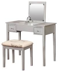Silver Vanity Chair Silver Butterfly Vanity Set Contemporary Bedroom U0026 Makeup
