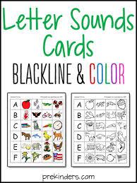 printable alphabet letter cards letter sounds printables prekinders