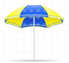 Beech Umbrella Yellow And Blue Beach Umbrella Vector Image 31990 U2013 Rfclipart