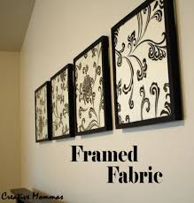 decorating cheap black and white floral framed fabric wall