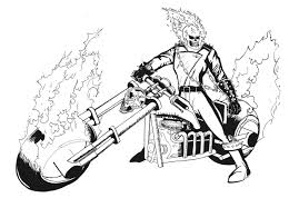 ghost rider coloring pages bltidm