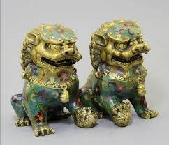 foo lion statue asian antique lion statue collection 1 pair of