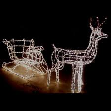Outdoor Christmas Decorations Reindeer Sleigh by 3d Outdoor Christmas Light Decorations