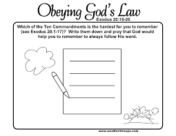 obeying god u0027s law u201d sunday lesson summary and activities