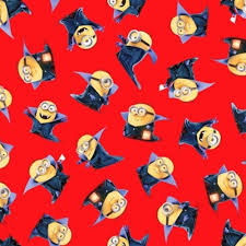 minion wrapping paper cotton fabric character fabric despicable me bite me count