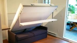 Desk Wall Bed Combo Italian Murphy Bed Sofa With Floating Shelf Youtube With Regard To