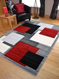 Square Modern Rugs Tempo Silver Square Design Thick Quality Modern Carved Rugs
