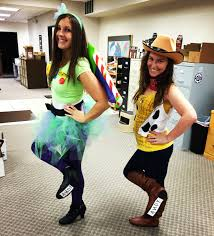 buzz lightyear and woody toy story woman women halloween